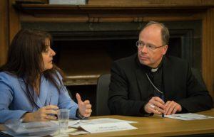 Dr. Maryann Cusimano Love, Catholic University of America und Dr. Stephan Ackermann, Bischof von Trier